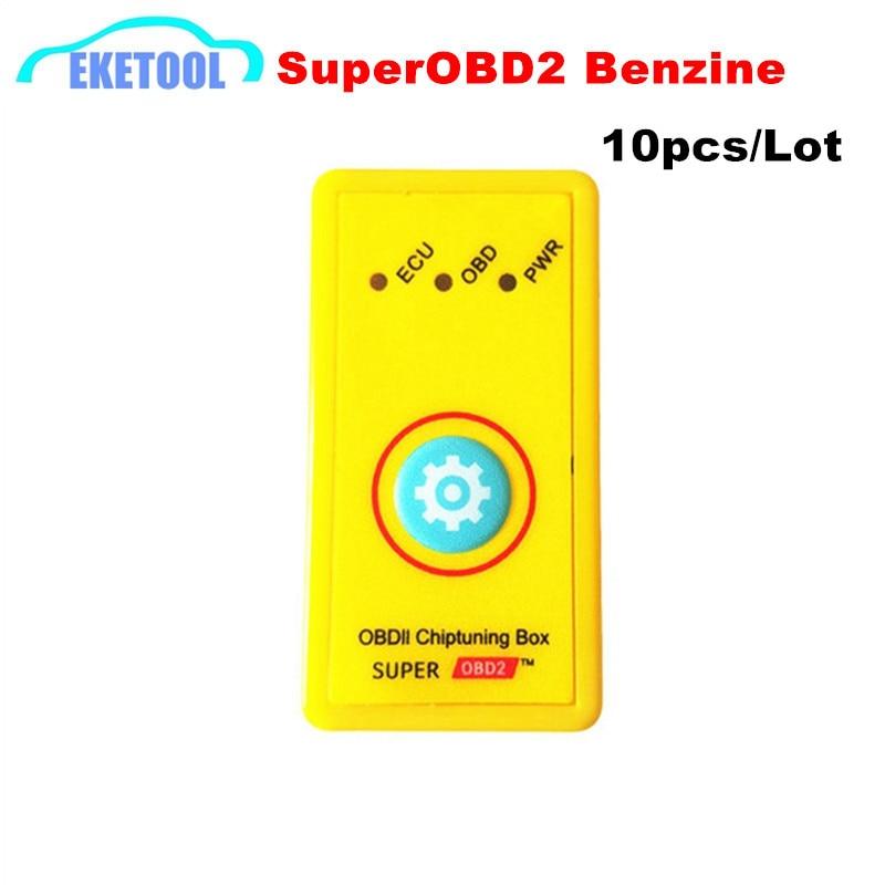 Prix pour 10 pcs/Lot Benzine Voiture Votre Propre Pilote Super OBD2 NitroOBD2 ECU Chip Tuning Box Fonction De Réinitialisation SuperOBD2 Puissance Plug OBD2 outil