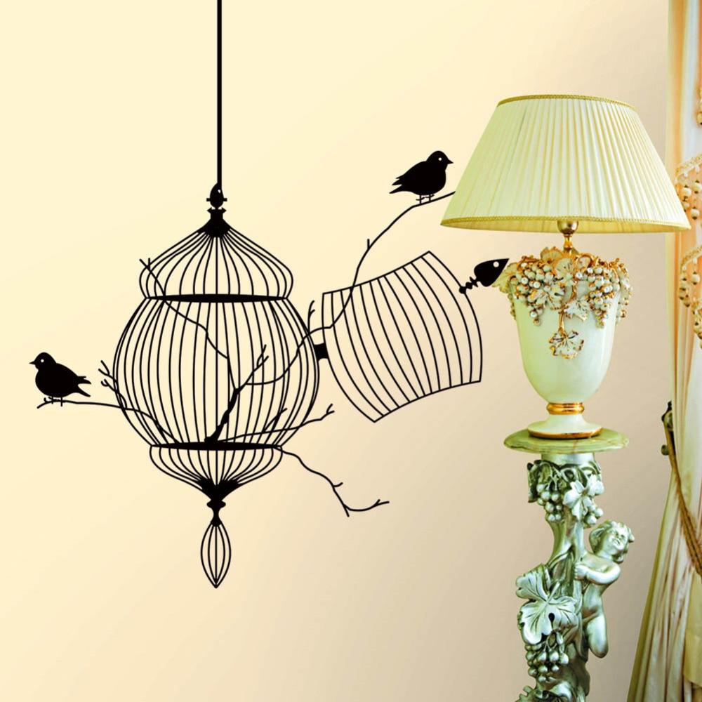 Personalized Bedroom Decor Aliexpresscom Buy Creative Personalized Black Birdcage Wall