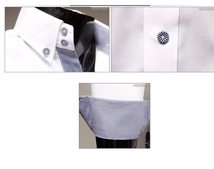 Mens Casual Shirts 2016 Hot Sale Mens Slim Fit Dress Long Sleeve Shirts Soild Male Social Shirts Designer Chemise Homme 3XL 25 14