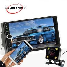 2 DIN 4LED камера USB/AUX IN/FM/SD 1080 P Авто видео 7 «стерео Bluetooth автомобиля Радио сенсорный экран MP5 плеер Зеркало Ссылка автомагнитола магнитола