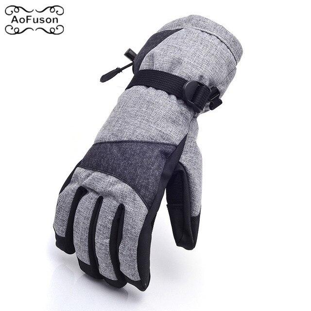 Лыжные сноубордические перчатки унисекс наружные ветрозащитные дышащие зимние теплые велосипедные лыжные походные зимние женские мужские перчатки