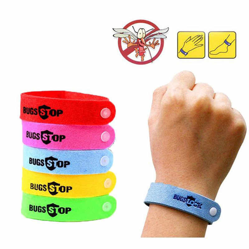 Anti Mosquito Bug Repelente Wrist Band Bracelet Redes de Insetos Bug Bloqueio Camping paus de incenso mais seguro anti pulseira mosquito ao ar livre