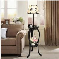 Simple modern iron led living room floor lamp bedside lamp coffee bedroom table lamp shelves creative light TA928534
