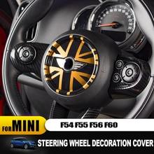 цена на Steering Wheel Center Panel 3D Dedicated Car Sticker Decal Cover Sticker case for MINI COOPER F54 F55 F56 F60 Countryman Clubman