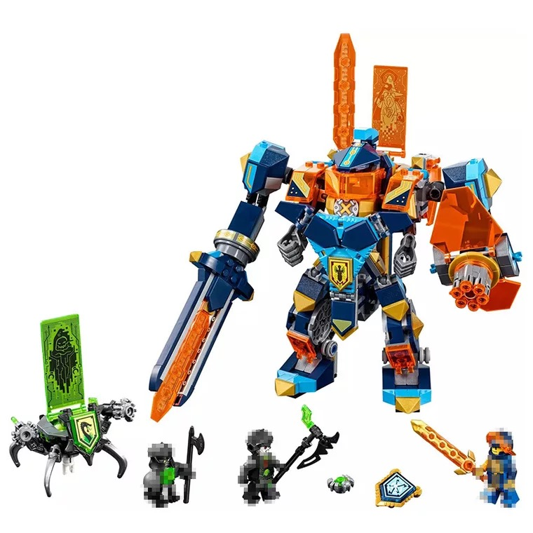 LEPIN Elemental Knights Series The High tech magic mech Figures Building Blocks Toys For Children Legoe Christmas Gifts For Kids