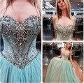 Sweetheart Corset Vestido De bola De baile Vestido De crystal Formal Vestido De fiesta para Debutance cotillón Vestido De Festa