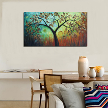 Hand painted modern simple style oil painting on canvas abstract lucky leaves tree home wall art decorations