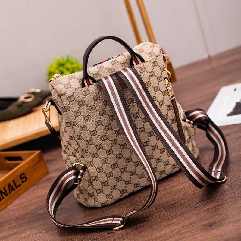Fashion Women Backpack High Quality Youth Leather Backpacks for Teenage Female School Bags Girls Shoulder Bag Travel Back Packs