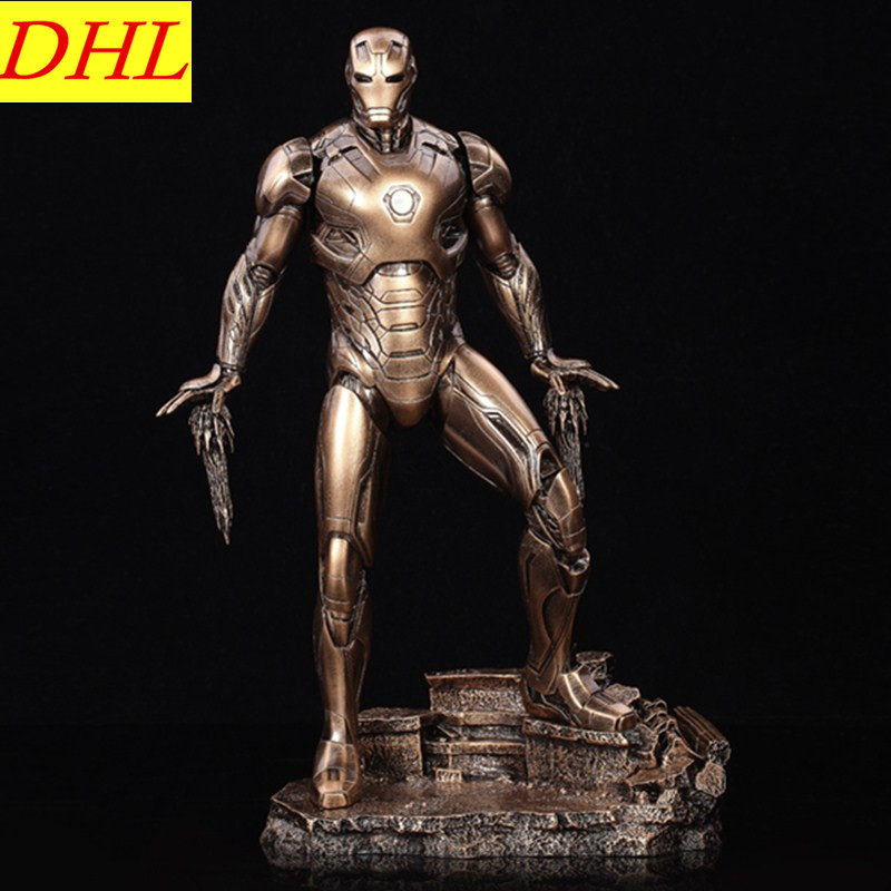 Avengers 3 Iron Man 1:6 GK Statue Mark45 Tony Stark Resin Art & Craft Decorations Action Figure Collectible Model Toy L2306