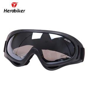 e9008acfd64c98 HEROBIKER En Plein Air lunettes de moto Ski Snowboard Airsoft Paintball  lunettes de protection Motocross Hors Route Équitation UV400 Lunettes dans  Lunettes ...