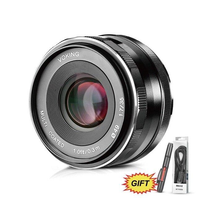 VOKING VK 35mm F1 7 Manual Focus Prime Lens for Olympus Micro 4/3 EM10 Mark  ii/EM5/EM1/EP5/EPL3 and Panasonic Lumix G7 Cameras-in Camcorder Lenses