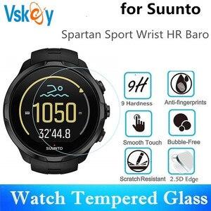 Image 1 - VSKEY 100pcs מזג זכוכית עבור Suunto ספורט Spartan יד HR Baro מסך מגן נגד שריטות קוטר 42mm מגן סרט