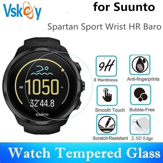 VSKEY 100pcs מזג זכוכית עבור Suunto ספורט Spartan יד HR Baro מסך מגן נגד שריטות קוטר 42mm מגן סרט
