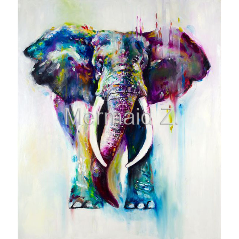 Professional Artist Hand Painted High Quality Abstract: High Quality Hand Painted Animal Abstract Oil Painting