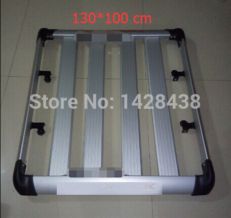1.3m Aluminium Roof Rail Rack Luggage Cage Basket Cargo Box Carrier - Bahagian auto - Foto 2