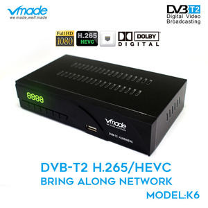 DVB T2 High Digital Terrestrial signal receive DVB T2 K6 TV BOX with  Net port support H.265 Dolby AC3  PVR Youtube  set top box
