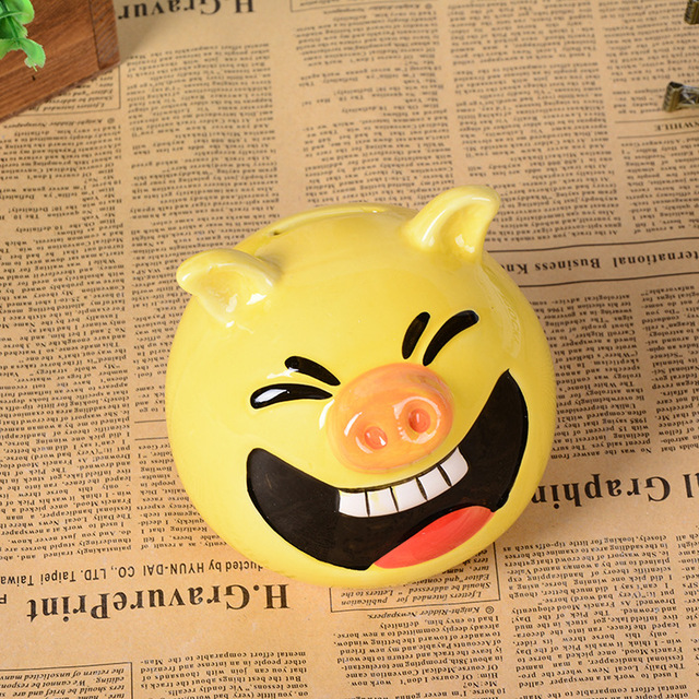 Keramik Geld Box Kreative Piggy Bank Lächelndes Schwein Kunst Und Handwerk  Kinderzimmer Dekoration