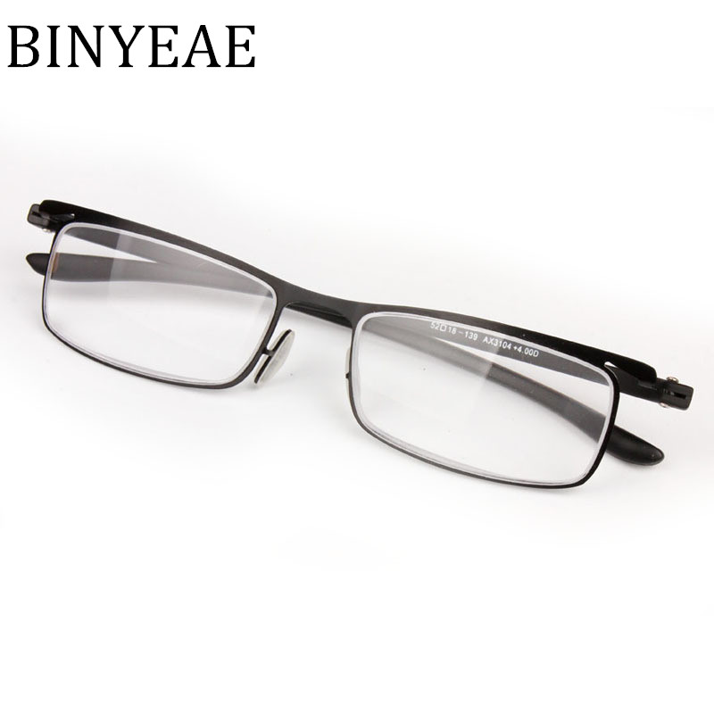 BINYEAE Women and Men Ultra Think Light Eye Glasses Metal Reader for Eyes Glasses Readin ...