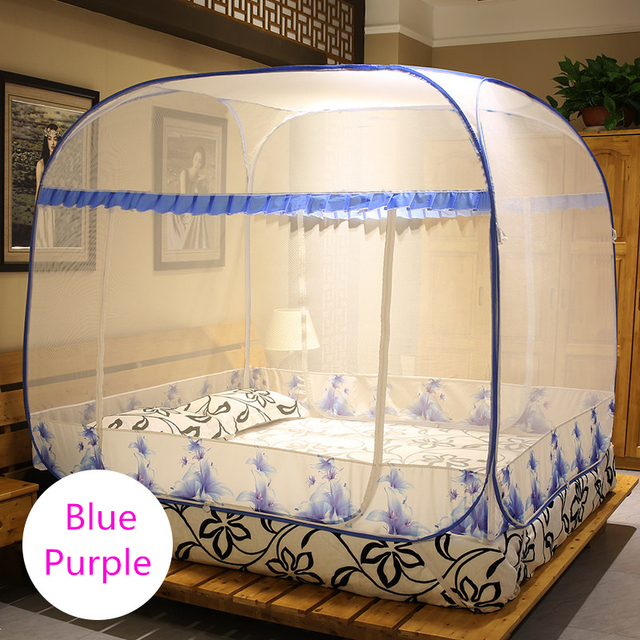 2017 New Arrival Travel Tent Mosquito Netmosquito Net Tents,Mosquito Net Lace,Mosquito Net for Double Bed,Blue and Purple