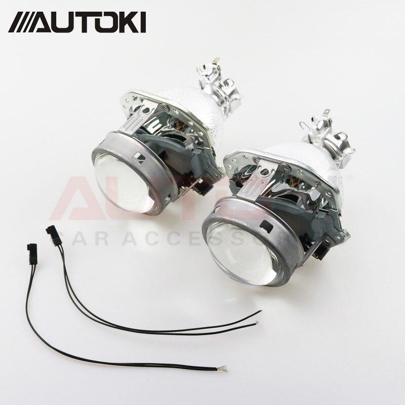 Autoki G4 EVOX-R HID lentille de projecteur bi-xénon pour AUDI A6L C5 A8 A4 B6/BMW E39/Ford Fiesta/Benz ML W163/Lancer evox-r/Passat B6