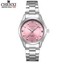 CHENXI – Montre avec strass pour femme, luxueuse et étanche, disponible en 6 couleurs, CX021B