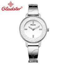Gladster модные ювелирные изделия женские кварцевые часы японский механизм Miyota из нержавеющей стали женские часы подарок