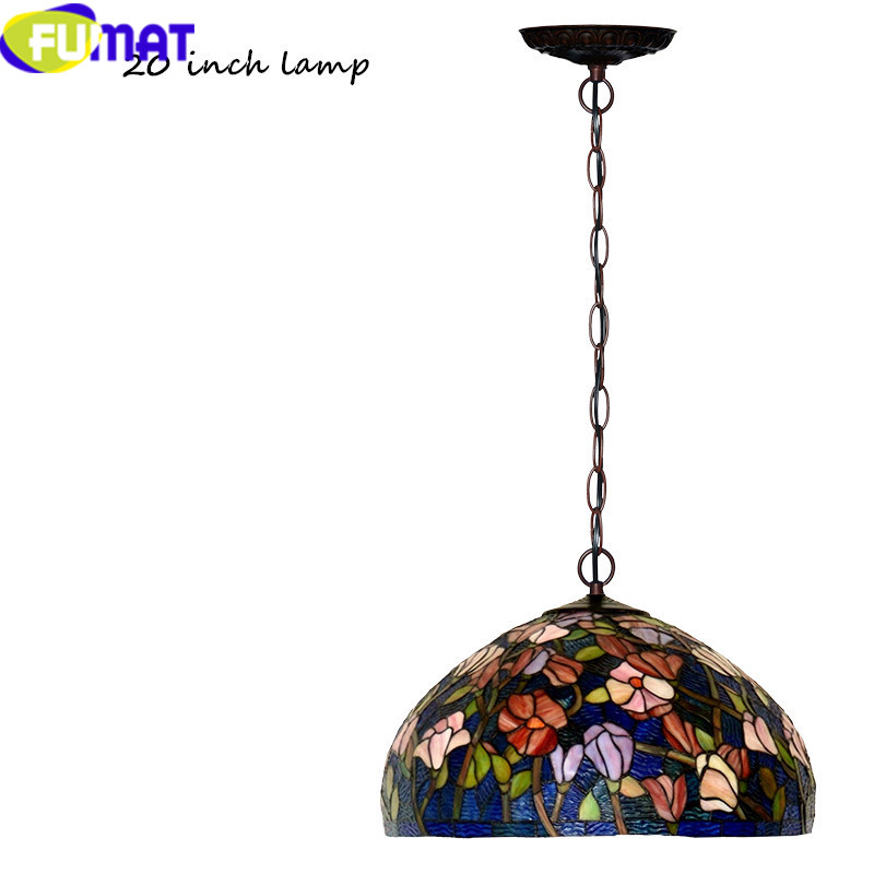18 20INCCH Tiffany bombax Stained Glass Pendant Lamps