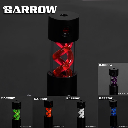 Barrow VIRUS T cylinder water reservoir water tank 155mm computer water cooling UV Lighting included TLYK-155 barrow t virus water cooling reservoir tank tlyk155 155mm with uv light