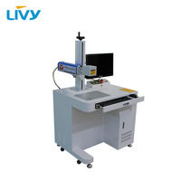 LIVY 20 watt desktop fiber laser metal marking machine red dot position system + computer with 2 years warranty