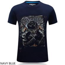 2017 hip hop Tee Men T Shirt Black Tshirt Men's Shirt Cool Skull Megadeth 3D Print Heavy Metal Rock Roll Pop Clothing 6XL