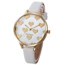 New gift Relogio Feminino Reloj Mujer Women watch lady Women Casual Checkers Faux Leather Quartz Analog Wrist Watch P*21