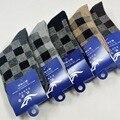 Promoção 5 Pares de Meias de Lã de Coelho Térmica Meias Quentes Sapatos de inverno dos homens de lã Masculina de Inverno de Espessura Longa meia Livre grátis