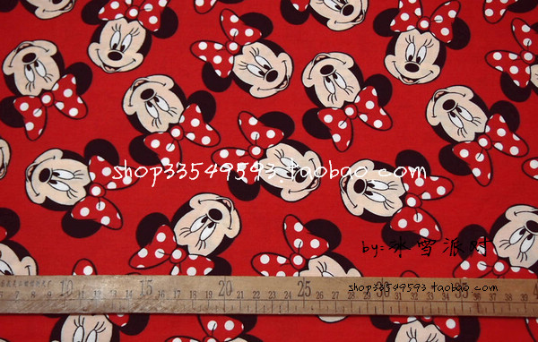 50140cm Minnie Mouse Child Polyester Fabric Baby Birthday Party Wallpapers Diy Handmade Craft Bedding Home Cloth Purse Quilt In From Garden