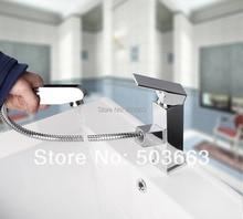 Новый Дизайн новинка, оптовая продажа Pull Out Up Опрыскиватель хром латунь вода кухонный кран поворотный сосуд Раковина Смеситель MF-501