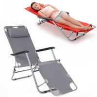 Cadeira de praia portátil dobrável de espreguiçadeiras de lazer ao ar livre
