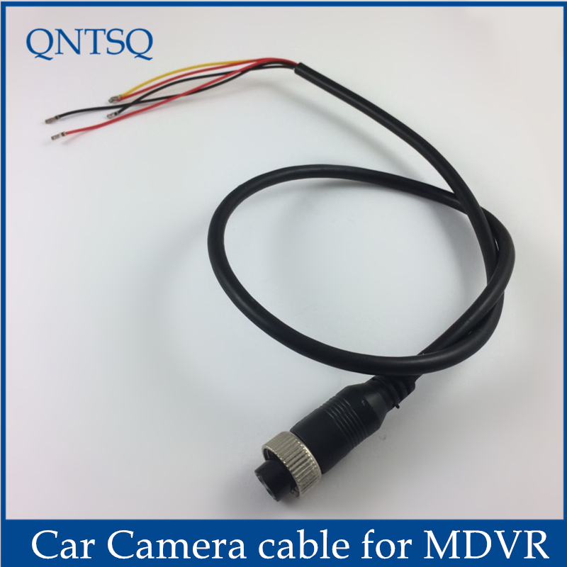 Aviation female connector cable, 4pin to MDVR,5 Pin(2P 2.0mm 3P 1.5mm) Black Cable for CCTV car Camera