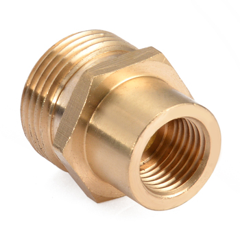 цены New Brass Joint Nozzle Copper Washer Snow Foam Lance Adapter Coupler 1/4 inch F - M22 for Spray Gun Fittings Water Tools