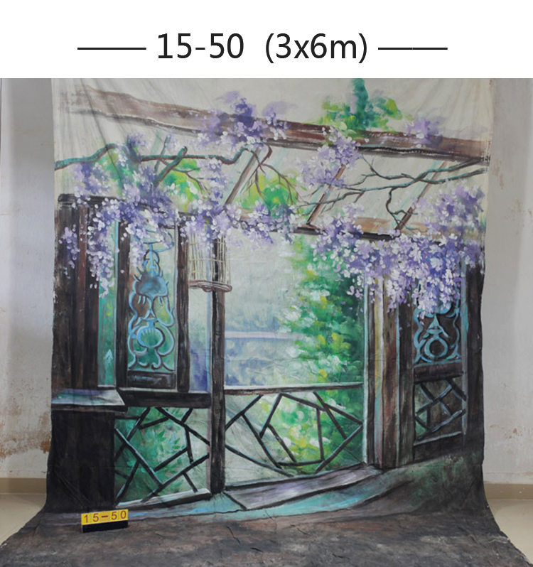 2017 10*20ft Hand Painted cloth photography background wedding,toile de fond studio photo 1550, muslin scenic photo backdrops 3m 6m hand painted muslin scenic backdrop fc023 toile de fond studio photo photo studio props baby photography studio backdrop