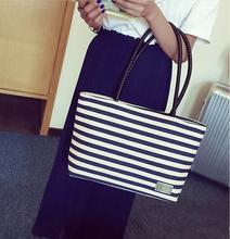 2017 Ms. new canvas striped handbag / fashion wild Mummy bag /diaper bag/baby bag/stroller bag 65z