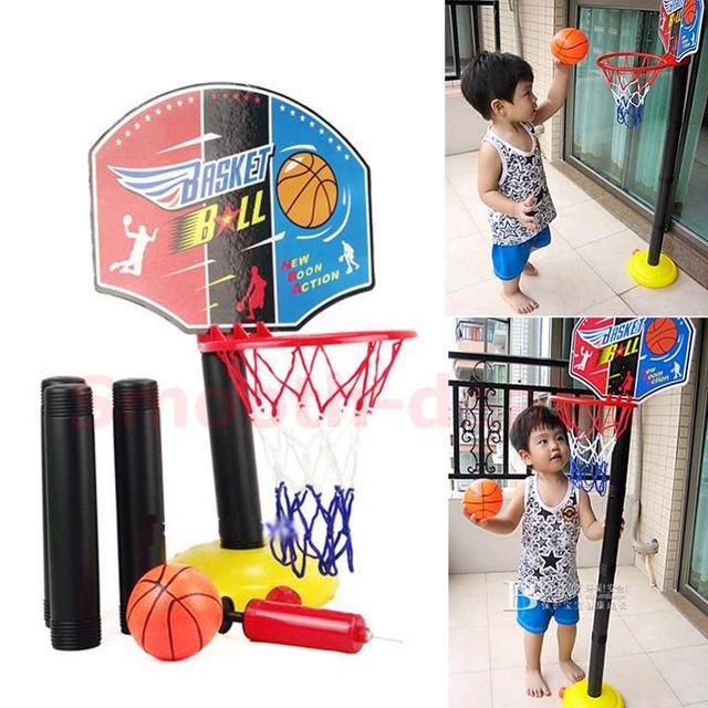 B76 Ajustable Mini Niños Kid juego de Baloncesto Juego de Interior Al Aire Libre Deporte Juego Juguete