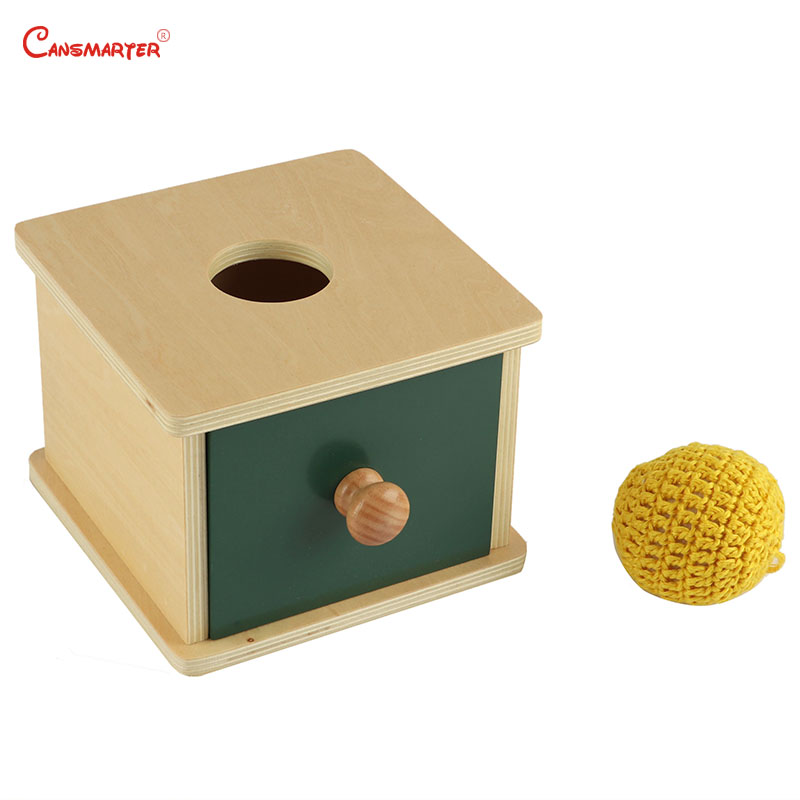 Imbucare Boxes Montessori Sensorial Toys Infant 8-12 Months Home Games Ball Geometric Shape Educational Safe Wood LT008-3