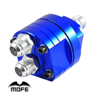 MOFE Racing Universal High Quality O Ring Aluminum Sandwich Plate Adapter For Oil Cooler Kit Blue