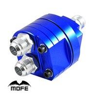 MOFEแข่งสากลที่มีคุณภาพสูงO-แหวนอลูมิเนียมตัวจานแซนวิชสำหรับน้ำมันคูลเลอร์ชุดสีฟ้า