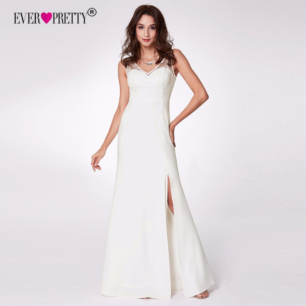 Ever Pretty Elegant Wedding Dress 2018 A Line V Neck