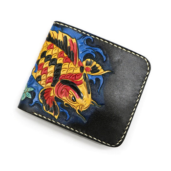 Hand-made Short Python Skin Wallets Purses Women Men Clutch Vegetable Tanned Leather Thin Wallet Card Holder Birthday Present
