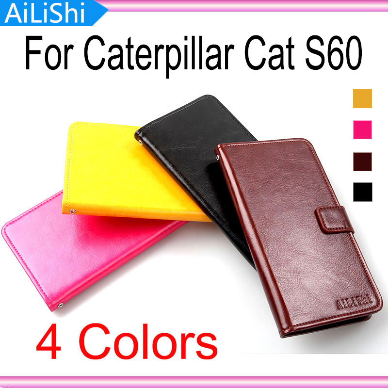 Brand For Caterpillar Cat S60 Luxury Protective Cover Skin PU Bag Wallet Card Slot High Quality Flip Leather Case