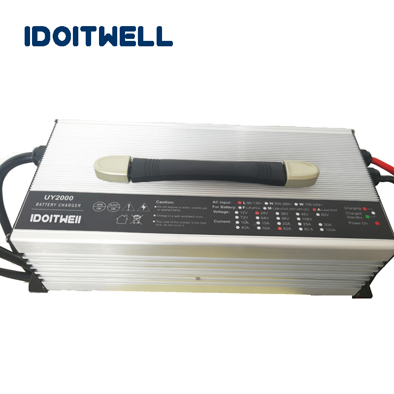 Chargeur de batterie adapté aux besoins du client de la série 2000W 12V 90A 24V 60A 36V 40A 48V 30A 60V 25A 72V 20A pour la batterie au Lithium LifePO4 d'acide de plomb
