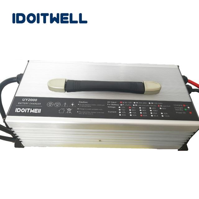 Dostosowane 2000 W serii 12 V 100A 24 V 60A 36 V 40A 48 V 30A 60 V 25A 72 V 20A ładowarka do realizacji litu kwas litu LifePO4 baterii