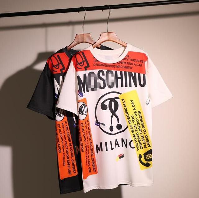 Europa y los Estados Unidos en la impresión digital suelta de manga larga camiseta femenina del verano