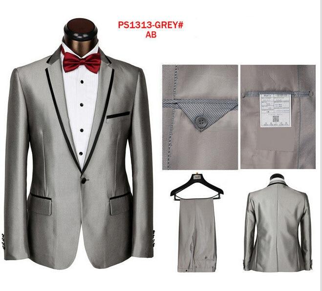 Gray Groom Suit Custom Made Grey Two-Tone Woven Wedding/Business Suits For Men,Bespoke Vintage Gray Tuxedo Gray Wedding Tuxedo